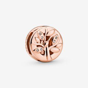 Pandora Sparkling Family Tree Clip Charm